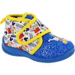 Disney by Arnetta Chlapčenské papučky Mickey Mouse modro-žlté ... ae280d35d48