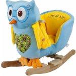 BabyGO Hojdacie kreslo - sova modrá