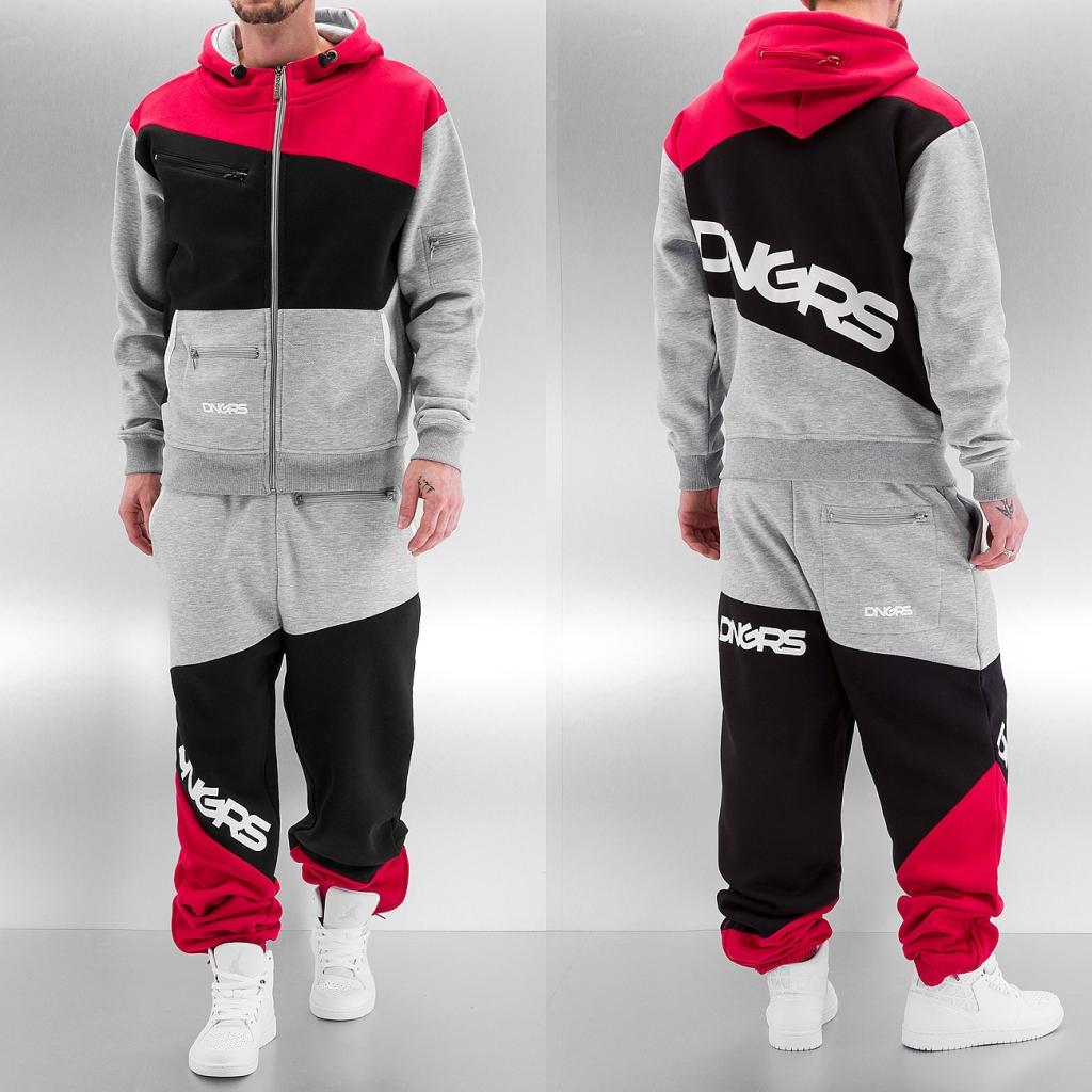 5c38970324a4d Dangerous DNGRS Sweat Suit Grey/Black/Red od 68,02 € - Heureka.sk