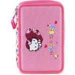 Školský peračník s náplňou Hello Kitty ružový, motív srdce