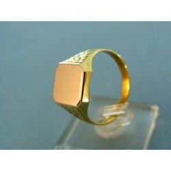 cbaf36c27 Zlatý pánsky prsteň pečatný platnička červené zlato VP65542V ...