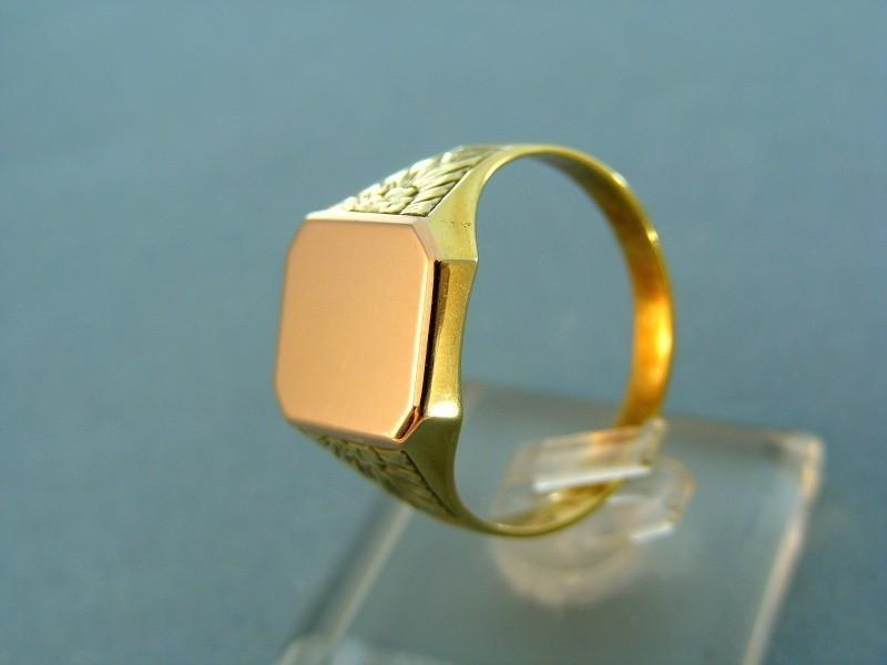 4cd276c7b Prsteň Zlatý pánsky prsteň pečatný platnička červené zlato VP65542V ...