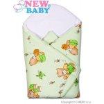 New Baby Detská zavinovačka zelený medvedík