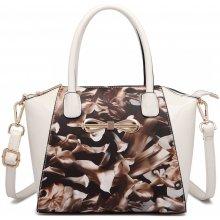 0523df5cb8 Miss Lulu kvetinová crossbody kabelka hnedé kaly