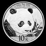 Panda Strieborná minca China 30g 2018