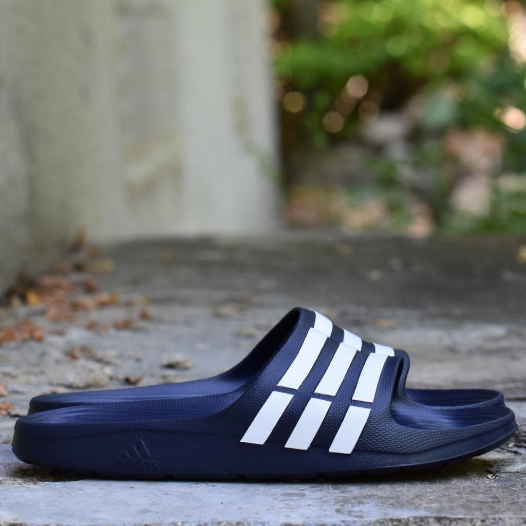 968eb7a2f7923 Pánska topánka Adidas Duramo Slide On Mens Pool TrueBlue/White ...