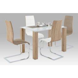 35c971797e25 Autronic Jedálenský stôl AT-1055 SRE + 4 jedálenské stoličky WE-5021 ...