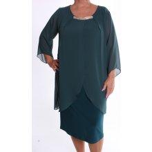 242c8f2d8 Dámske spoločenské elastické šaty so silonom VZOR 4. zelené