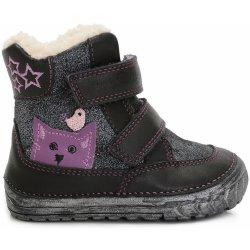 43648ede933ab D.D.step Dievčenské zimné topánky s mačičkou čierne alternatívy ...