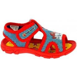 Disney by Arnetta Chlapčenské sandále Paw Patrol modro-červené ... 9d9f2aaa8ab