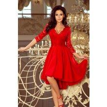 31a6ba758c Dámske šaty Numoco 210-6 s čipkou červené Červená