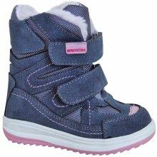33b7495d3a91 Protetika Dievčenské zimné topánky Fari modré