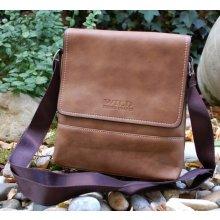 pánska taška hnedá bledá štepovaná crossbody a6eac0356d0