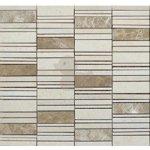 Premium Mosaic Stone Mozaika kamenná mix béžová 2,5x7 cm