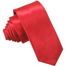 Kravata úzka červená