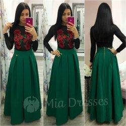 dc188bc21914 Dámska dlhá skladaná sukňa zelená od 59