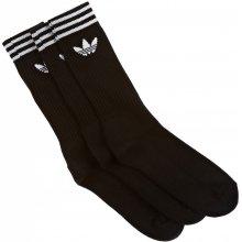 Adidas CREW SOCK SOLID 3 PACK čierna