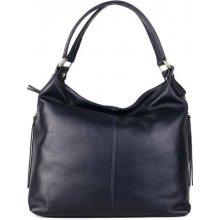 91271d96f3 talianske kožené luxusné kabelky veľké Florena tmavomodré