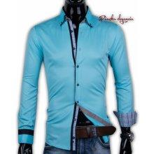 Adriano Calitri 40030-AD-234 Tyrkysová pánska košeľa