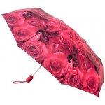 Fulton Dámský skládací plně automatický deštník Open & Close-4 Photo Rose Red L346-1