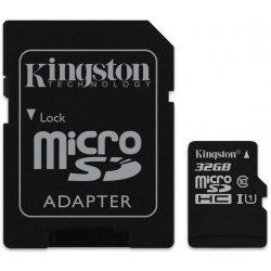 Kingston microSDHC 32GB UHS-I U1 + adapter SDC10G2/32GB