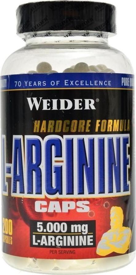 Výsledek obrázku pro Weider L-Arginine Caps 200 kapslí