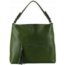12acfeb13 Wojewodzic dámska zelená kožená kabelka veľká cez rameno 31521/OL11