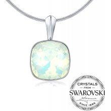 b6f74f49b SILVEGO strieborný prívesok so Swarovski ® Crystals biely opál 12mm VSW050P