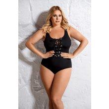 plavky Margarita jednodielne so šnurovačkou čierna c438a3073b