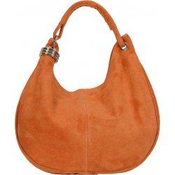 kožená kabelka pravá brúsená koža FC kab 2245 oranžová alternatívy ... 6412e2e45b8