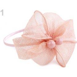 c35063d71e02 Fascinátor čelenka s kvetom pudrová 1ks od 7