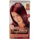 L'Oréal Féria Préférence Luxusná intenzívna dlhotrvajúca farba na vlasy, s vysokou odolnosťou, pre žiarivé lesklé vlasy, P67 - veľmi intenzívna červená