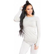 38d61637c62e SMILODOX Dámske športové tričko s dlhým rukávom 1006 sivá