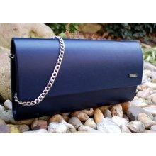 13e856cfc kabelka listová modrá tmavá matná