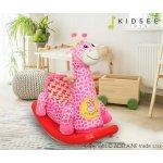 KidseeToys plyšová hojdacia žirafka ružová