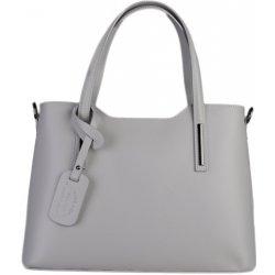 448bba27ff talianska kožená kabelka na rameno jemne sivá Carina veľká ...