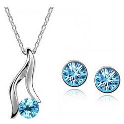 FashionGate retiazka s príveskom a náušnice s modrým kryštálom  85984262341670-1 ae13c468c0b
