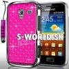 Zadný kryt Samsung Galaxy Ace 2 - Chrome Diamant tmavo-ružová