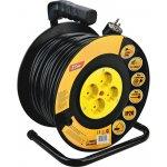 Predlžovací kábel na bubne 25m 4 zásuvky