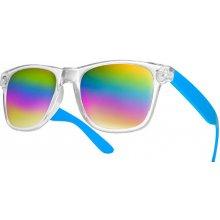 Sunmania zrkadlové wayfarer 093 modré