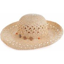 0ece4d400 Dámsky plážový klobúk zo syntetickej rafie krémový 043612