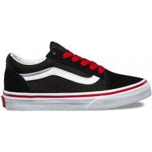 Vans OLD SKOOL POP Pop black/racing red detské topánky