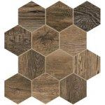 Dom Dlažba Barn Wood brown hexagon 35x37,5 cm, mat, rektifikovaná DBWEM60