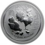 Lunární série II. stříbrná mince 0,5 AUD Year of the Rooster Rok kohouta 1/2 Oz 2017