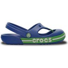 Crocs Crocband Toe Bumper Flip Kid's modré/zelené