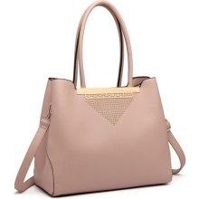 kabelka Ernesta elegantná so zlatým detailom ružová 27cd13a3d95