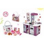 Smoby Set kuchynka Tefal Studio XL s umývačkou riadu a chladničkou a raňajkový set Hello Kitty