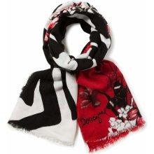 Desigual šál 17WAWK21 Rectangle Winter Floral Big 3007 Borgona 3ebef6b68c