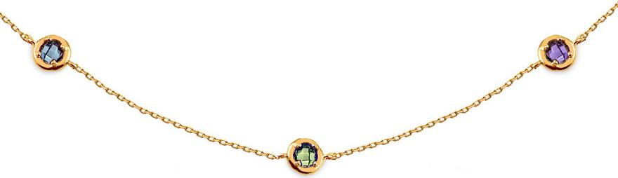 bbb5967b3 iZlato Zlatý náhrdelník Choker s farbenými zirkónmi Design IZ14342