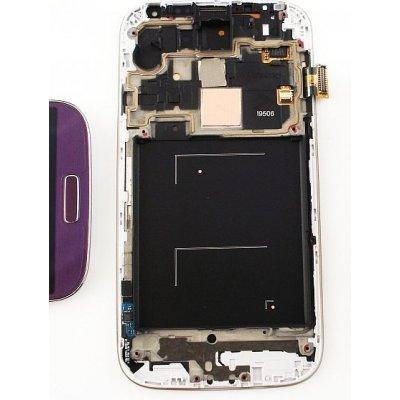 LCD Displej + Dotykové sklo + Přední kryt Samsung i9506 Galaxy S4 LTE Purple (fialová)